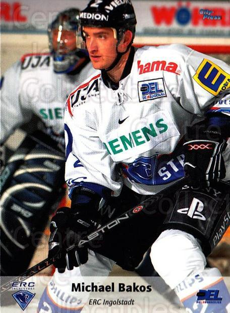 2006-07 German DEL #93 Michael Bakos<br/>5 In Stock - $2.00 each - <a href=https://centericecollectibles.foxycart.com/cart?name=2006-07%20German%20DEL%20%2393%20Michael%20Bakos...&quantity_max=5&price=$2.00&code=167314 class=foxycart> Buy it now! </a>