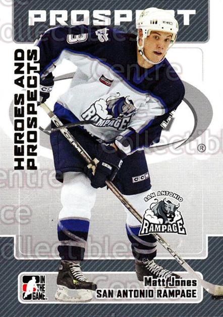 2006-07 ITG Heroes and Prospects #70 Matt Jones<br/>14 In Stock - $1.00 each - <a href=https://centericecollectibles.foxycart.com/cart?name=2006-07%20ITG%20Heroes%20and%20Prospects%20%2370%20Matt%20Jones...&price=$1.00&code=167327 class=foxycart> Buy it now! </a>