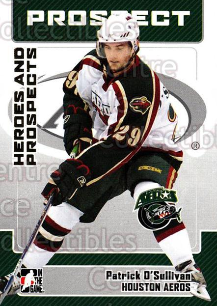 2006-07 ITG Heroes and Prospects #74 Patrick O'Sullivan<br/>15 In Stock - $1.00 each - <a href=https://centericecollectibles.foxycart.com/cart?name=2006-07%20ITG%20Heroes%20and%20Prospects%20%2374%20Patrick%20O'Sulli...&price=$1.00&code=167331 class=foxycart> Buy it now! </a>