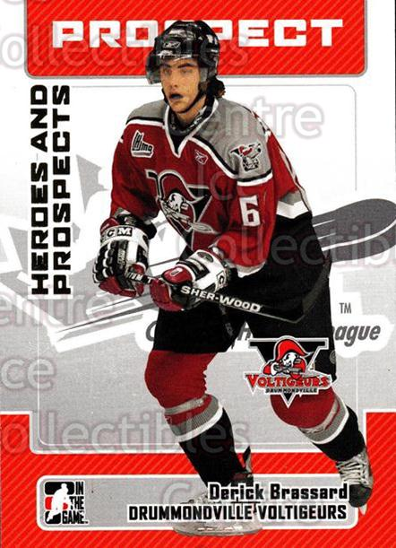 2006-07 ITG Heroes and Prospects #84 Derick Brassard<br/>15 In Stock - $1.00 each - <a href=https://centericecollectibles.foxycart.com/cart?name=2006-07%20ITG%20Heroes%20and%20Prospects%20%2384%20Derick%20Brassard...&price=$1.00&code=167341 class=foxycart> Buy it now! </a>