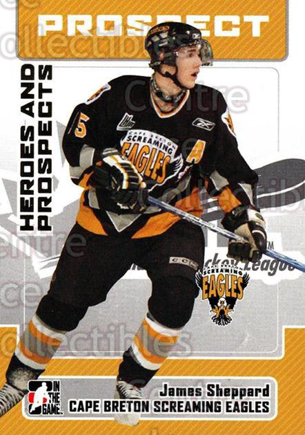 2006-07 ITG Heroes and Prospects #87 James Sheppard<br/>10 In Stock - $1.00 each - <a href=https://centericecollectibles.foxycart.com/cart?name=2006-07%20ITG%20Heroes%20and%20Prospects%20%2387%20James%20Sheppard...&price=$1.00&code=167344 class=foxycart> Buy it now! </a>