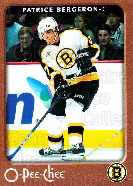 2006-07 O-Pee-Chee #36 Patrice Bergeron<br/>6 In Stock - $2.00 each - <a href=https://centericecollectibles.foxycart.com/cart?name=2006-07%20O-Pee-Chee%20%2336%20Patrice%20Bergero...&quantity_max=6&price=$2.00&code=167490 class=foxycart> Buy it now! </a>