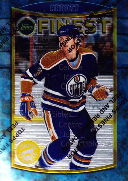 1994-95 Finest Super Team Winner Redeemed #21 Jason Arnott<br/>8 In Stock - $2.00 each - <a href=https://centericecollectibles.foxycart.com/cart?name=1994-95%20Finest%20Super%20Team%20Winner%20Redeemed%20%2321%20Jason%20Arnott...&quantity_max=8&price=$2.00&code=1675 class=foxycart> Buy it now! </a>