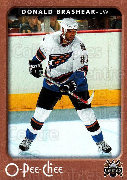 2006-07 O-Pee-Chee #488 Donald Brashear<br/>6 In Stock - $1.00 each - <a href=https://centericecollectibles.foxycart.com/cart?name=2006-07%20O-Pee-Chee%20%23488%20Donald%20Brashear...&quantity_max=6&price=$1.00&code=167628 class=foxycart> Buy it now! </a>