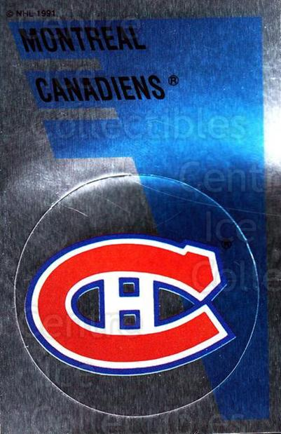 1991-92 Panini Stickers #162 Montreal Canadiens<br/>7 In Stock - $1.00 each - <a href=https://centericecollectibles.foxycart.com/cart?name=1991-92%20Panini%20Stickers%20%23162%20Montreal%20Canadi...&quantity_max=7&price=$1.00&code=16792 class=foxycart> Buy it now! </a>