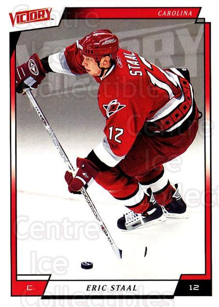 2006-07 UD Victory #35 Eric Staal<br/>4 In Stock - $1.00 each - <a href=https://centericecollectibles.foxycart.com/cart?name=2006-07%20UD%20Victory%20%2335%20Eric%20Staal...&quantity_max=4&price=$1.00&code=167977 class=foxycart> Buy it now! </a>