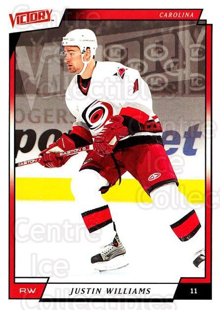 2006-07 UD Victory #38 Justin Williams<br/>3 In Stock - $1.00 each - <a href=https://centericecollectibles.foxycart.com/cart?name=2006-07%20UD%20Victory%20%2338%20Justin%20Williams...&quantity_max=3&price=$1.00&code=167980 class=foxycart> Buy it now! </a>