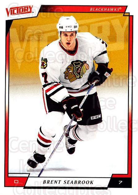 2006-07 UD Victory #44 Brent Seabrook<br/>2 In Stock - $1.00 each - <a href=https://centericecollectibles.foxycart.com/cart?name=2006-07%20UD%20Victory%20%2344%20Brent%20Seabrook...&quantity_max=2&price=$1.00&code=167987 class=foxycart> Buy it now! </a>