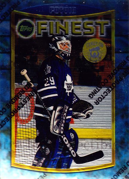 1994-95 Finest Super Team Winner Redeemed #26 Felix Potvin<br/>1 In Stock - $3.00 each - <a href=https://centericecollectibles.foxycart.com/cart?name=1994-95%20Finest%20Super%20Team%20Winner%20Redeemed%20%2326%20Felix%20Potvin...&quantity_max=1&price=$3.00&code=1679 class=foxycart> Buy it now! </a>