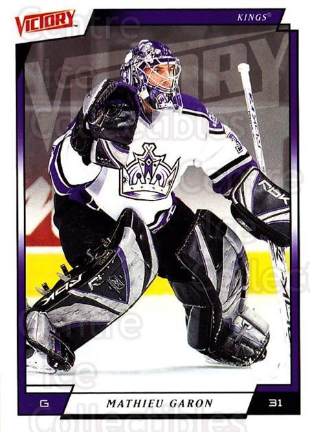 2006-07 UD Victory #89 Mathieu Garon<br/>5 In Stock - $1.00 each - <a href=https://centericecollectibles.foxycart.com/cart?name=2006-07%20UD%20Victory%20%2389%20Mathieu%20Garon...&quantity_max=5&price=$1.00&code=168036 class=foxycart> Buy it now! </a>
