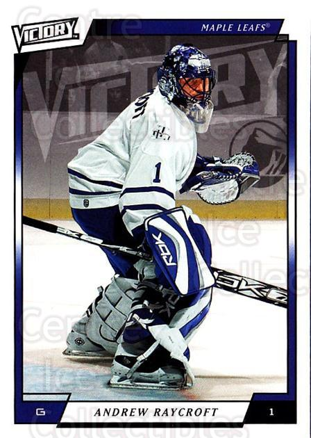 2006-07 UD Victory #276 Andrew Raycroft<br/>3 In Stock - $1.00 each - <a href=https://centericecollectibles.foxycart.com/cart?name=2006-07%20UD%20Victory%20%23276%20Andrew%20Raycroft...&quantity_max=3&price=$1.00&code=168156 class=foxycart> Buy it now! </a>