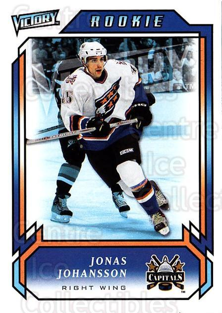 2006-07 UD Victory #282 Jonas Johansson<br/>2 In Stock - $2.00 each - <a href=https://centericecollectibles.foxycart.com/cart?name=2006-07%20UD%20Victory%20%23282%20Jonas%20Johansson...&quantity_max=2&price=$2.00&code=168162 class=foxycart> Buy it now! </a>