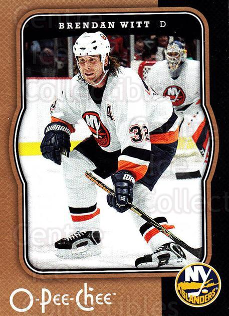 2007-08 O-Pee-Chee #316 Brendan Witt<br/>6 In Stock - $1.00 each - <a href=https://centericecollectibles.foxycart.com/cart?name=2007-08%20O-Pee-Chee%20%23316%20Brendan%20Witt...&quantity_max=6&price=$1.00&code=168560 class=foxycart> Buy it now! </a>