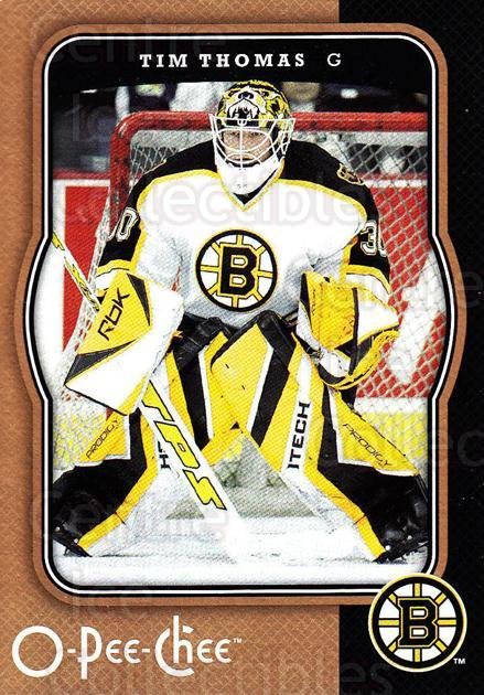 2007-08 O-Pee-Chee #44 Tim Thomas<br/>3 In Stock - $1.00 each - <a href=https://centericecollectibles.foxycart.com/cart?name=2007-08%20O-Pee-Chee%20%2344%20Tim%20Thomas...&quantity_max=3&price=$1.00&code=168697 class=foxycart> Buy it now! </a>