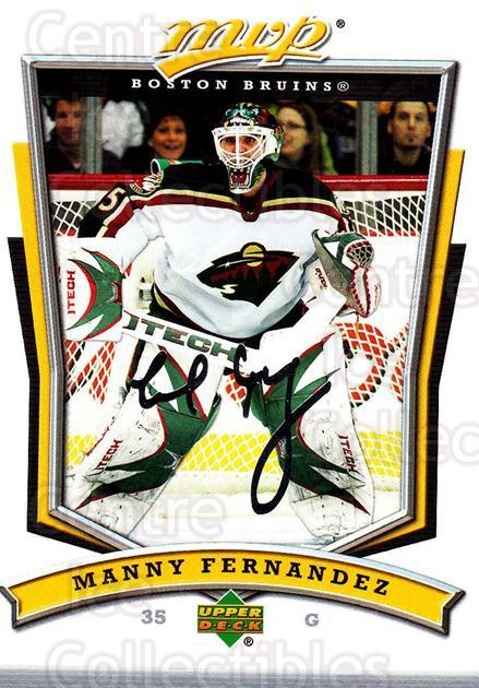 2007-08 Upper Deck MVP #292 Manny Fernandez<br/>5 In Stock - $1.00 each - <a href=https://centericecollectibles.foxycart.com/cart?name=2007-08%20Upper%20Deck%20MVP%20%23292%20Manny%20Fernandez...&quantity_max=5&price=$1.00&code=168929 class=foxycart> Buy it now! </a>