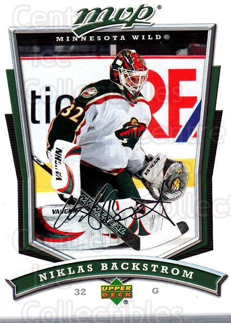 2007-08 Upper Deck MVP #297 Niklas Backstrom<br/>5 In Stock - $1.00 each - <a href=https://centericecollectibles.foxycart.com/cart?name=2007-08%20Upper%20Deck%20MVP%20%23297%20Niklas%20Backstro...&quantity_max=5&price=$1.00&code=168934 class=foxycart> Buy it now! </a>