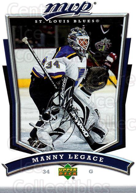 2007-08 Upper Deck MVP #34 Manny Legace<br/>4 In Stock - $1.00 each - <a href=https://centericecollectibles.foxycart.com/cart?name=2007-08%20Upper%20Deck%20MVP%20%2334%20Manny%20Legace...&quantity_max=4&price=$1.00&code=168981 class=foxycart> Buy it now! </a>