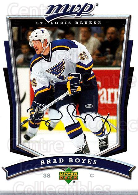 2007-08 Upper Deck MVP #38 Brad Boyes<br/>5 In Stock - $1.00 each - <a href=https://centericecollectibles.foxycart.com/cart?name=2007-08%20Upper%20Deck%20MVP%20%2338%20Brad%20Boyes...&quantity_max=5&price=$1.00&code=168996 class=foxycart> Buy it now! </a>