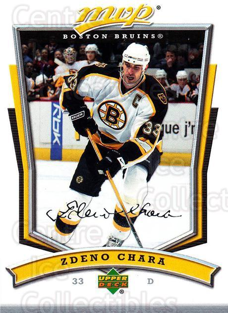 2007-08 Upper Deck MVP #42 Zdeno Chara<br/>4 In Stock - $1.00 each - <a href=https://centericecollectibles.foxycart.com/cart?name=2007-08%20Upper%20Deck%20MVP%20%2342%20Zdeno%20Chara...&quantity_max=4&price=$1.00&code=169001 class=foxycart> Buy it now! </a>