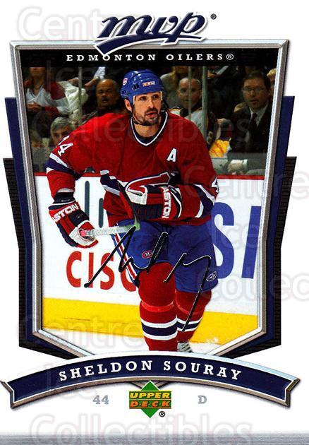 2007-08 Upper Deck MVP #56 Sheldon Souray<br/>5 In Stock - $1.00 each - <a href=https://centericecollectibles.foxycart.com/cart?name=2007-08%20Upper%20Deck%20MVP%20%2356%20Sheldon%20Souray...&quantity_max=5&price=$1.00&code=169016 class=foxycart> Buy it now! </a>