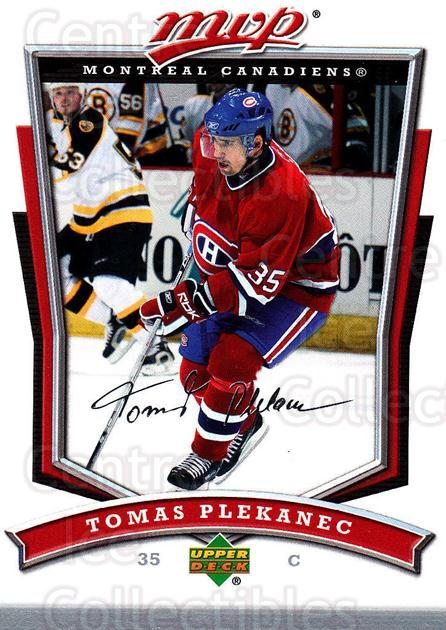 2007-08 Upper Deck MVP #57 Tomas Plekanec<br/>5 In Stock - $1.00 each - <a href=https://centericecollectibles.foxycart.com/cart?name=2007-08%20Upper%20Deck%20MVP%20%2357%20Tomas%20Plekanec...&quantity_max=5&price=$1.00&code=169017 class=foxycart> Buy it now! </a>
