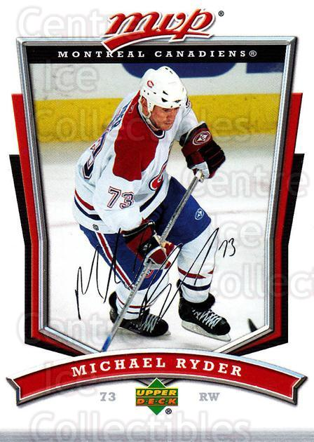 2007-08 Upper Deck MVP #59 Michael Ryder<br/>4 In Stock - $1.00 each - <a href=https://centericecollectibles.foxycart.com/cart?name=2007-08%20Upper%20Deck%20MVP%20%2359%20Michael%20Ryder...&quantity_max=4&price=$1.00&code=169019 class=foxycart> Buy it now! </a>