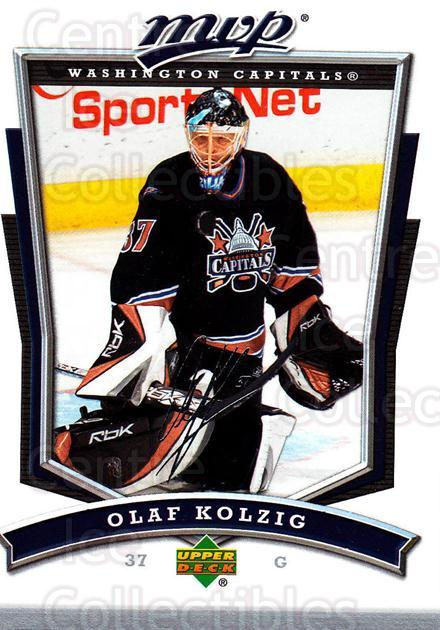 2007-08 Upper Deck MVP #81 Olaf Kolzig<br/>5 In Stock - $1.00 each - <a href=https://centericecollectibles.foxycart.com/cart?name=2007-08%20Upper%20Deck%20MVP%20%2381%20Olaf%20Kolzig...&quantity_max=5&price=$1.00&code=169044 class=foxycart> Buy it now! </a>