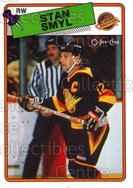 1988-89 O-Pee-Chee #253 Stan Smyl<br/>9 In Stock - $1.00 each - <a href=https://centericecollectibles.foxycart.com/cart?name=1988-89%20O-Pee-Chee%20%23253%20Stan%20Smyl...&quantity_max=9&price=$1.00&code=169301 class=foxycart> Buy it now! </a>