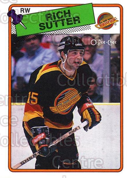 1988-89 O-Pee-Chee #255 Rich Sutter<br/>10 In Stock - $1.00 each - <a href=https://centericecollectibles.foxycart.com/cart?name=1988-89%20O-Pee-Chee%20%23255%20Rich%20Sutter...&quantity_max=10&price=$1.00&code=169303 class=foxycart> Buy it now! </a>