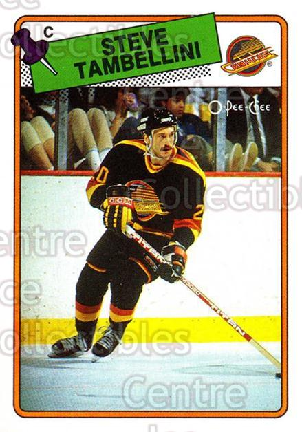 1988-89 O-Pee-Chee #258 Steve Tambellini<br/>9 In Stock - $1.00 each - <a href=https://centericecollectibles.foxycart.com/cart?name=1988-89%20O-Pee-Chee%20%23258%20Steve%20Tambellin...&quantity_max=9&price=$1.00&code=169306 class=foxycart> Buy it now! </a>