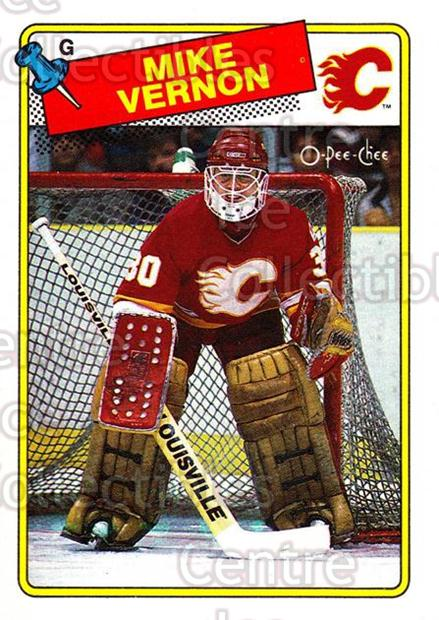 1988-89 O-Pee-Chee #261 Mike Vernon<br/>2 In Stock - $1.00 each - <a href=https://centericecollectibles.foxycart.com/cart?name=1988-89%20O-Pee-Chee%20%23261%20Mike%20Vernon...&quantity_max=2&price=$1.00&code=169310 class=foxycart> Buy it now! </a>