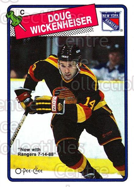 1988-89 O-Pee-Chee #263 Doug Wickenheiser<br/>9 In Stock - $1.00 each - <a href=https://centericecollectibles.foxycart.com/cart?name=1988-89%20O-Pee-Chee%20%23263%20Doug%20Wickenheis...&quantity_max=9&price=$1.00&code=169312 class=foxycart> Buy it now! </a>