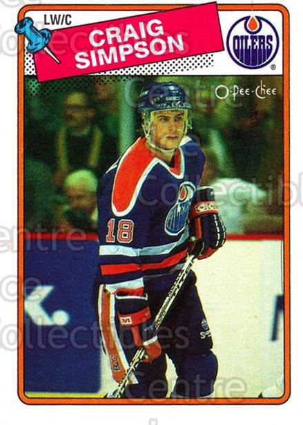 1988-89 O-Pee-Chee #27 Craig Simpson<br/>7 In Stock - $1.00 each - <a href=https://centericecollectibles.foxycart.com/cart?name=1988-89%20O-Pee-Chee%20%2327%20Craig%20Simpson...&quantity_max=7&price=$1.00&code=169314 class=foxycart> Buy it now! </a>