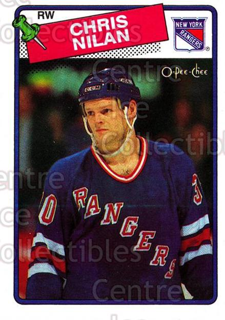 1988-89 O-Pee-Chee #31 Chris Nilan<br/>9 In Stock - $1.00 each - <a href=https://centericecollectibles.foxycart.com/cart?name=1988-89%20O-Pee-Chee%20%2331%20Chris%20Nilan...&quantity_max=9&price=$1.00&code=169319 class=foxycart> Buy it now! </a>