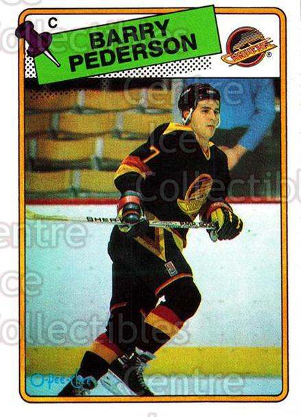 1988-89 O-Pee-Chee #32 Barry Pederson<br/>12 In Stock - $1.00 each - <a href=https://centericecollectibles.foxycart.com/cart?name=1988-89%20O-Pee-Chee%20%2332%20Barry%20Pederson...&quantity_max=12&price=$1.00&code=169320 class=foxycart> Buy it now! </a>
