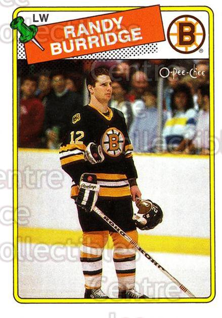 1988-89 O-Pee-Chee #33 Randy Burridge<br/>9 In Stock - $1.00 each - <a href=https://centericecollectibles.foxycart.com/cart?name=1988-89%20O-Pee-Chee%20%2333%20Randy%20Burridge...&quantity_max=9&price=$1.00&code=169321 class=foxycart> Buy it now! </a>