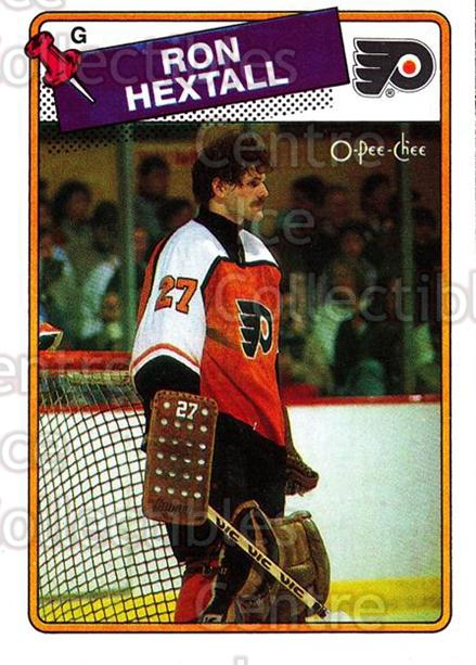 1988-89 O-Pee-Chee #34 Ron Hextall<br/>8 In Stock - $2.00 each - <a href=https://centericecollectibles.foxycart.com/cart?name=1988-89%20O-Pee-Chee%20%2334%20Ron%20Hextall...&quantity_max=8&price=$2.00&code=169322 class=foxycart> Buy it now! </a>