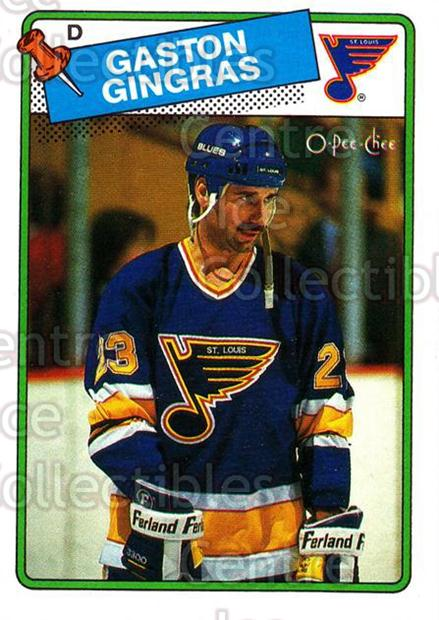 1988-89 O-Pee-Chee #35 Gaston Gingras<br/>9 In Stock - $1.00 each - <a href=https://centericecollectibles.foxycart.com/cart?name=1988-89%20O-Pee-Chee%20%2335%20Gaston%20Gingras...&quantity_max=9&price=$1.00&code=169323 class=foxycart> Buy it now! </a>