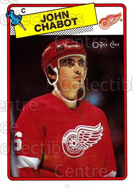 1988-89 O-Pee-Chee #39 John Chabot<br/>10 In Stock - $1.00 each - <a href=https://centericecollectibles.foxycart.com/cart?name=1988-89%20O-Pee-Chee%20%2339%20John%20Chabot...&quantity_max=10&price=$1.00&code=169327 class=foxycart> Buy it now! </a>