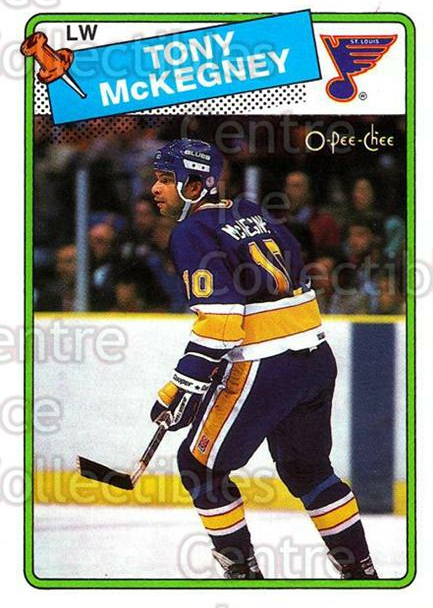 1988-89 O-Pee-Chee #4 Tony McKegney<br/>8 In Stock - $1.00 each - <a href=https://centericecollectibles.foxycart.com/cart?name=1988-89%20O-Pee-Chee%20%234%20Tony%20McKegney...&quantity_max=8&price=$1.00&code=169328 class=foxycart> Buy it now! </a>