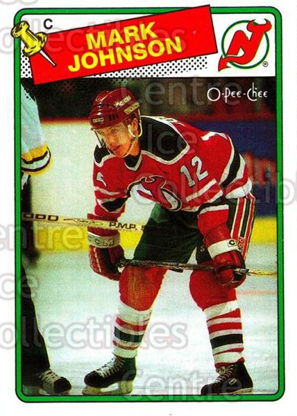 1988-89 O-Pee-Chee #45 Mark Johnson<br/>10 In Stock - $1.00 each - <a href=https://centericecollectibles.foxycart.com/cart?name=1988-89%20O-Pee-Chee%20%2345%20Mark%20Johnson...&quantity_max=10&price=$1.00&code=169334 class=foxycart> Buy it now! </a>