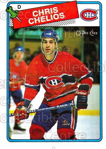 1988-89 O-Pee-Chee #49 Chris Chelios<br/>2 In Stock - $2.00 each - <a href=https://centericecollectibles.foxycart.com/cart?name=1988-89%20O-Pee-Chee%20%2349%20Chris%20Chelios...&quantity_max=2&price=$2.00&code=169337 class=foxycart> Buy it now! </a>