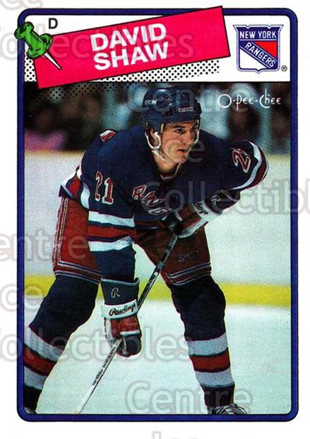 1988-89 O-Pee-Chee #57 David Shaw<br/>10 In Stock - $1.00 each - <a href=https://centericecollectibles.foxycart.com/cart?name=1988-89%20O-Pee-Chee%20%2357%20David%20Shaw...&quantity_max=10&price=$1.00&code=169344 class=foxycart> Buy it now! </a>