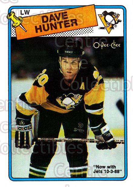 1988-89 O-Pee-Chee #62 Dave Hunter<br/>7 In Stock - $1.00 each - <a href=https://centericecollectibles.foxycart.com/cart?name=1988-89%20O-Pee-Chee%20%2362%20Dave%20Hunter...&quantity_max=7&price=$1.00&code=169350 class=foxycart> Buy it now! </a>