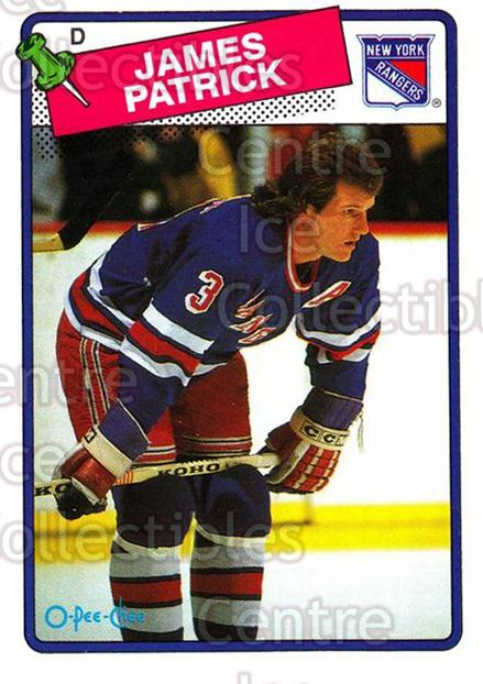 1988-89 O-Pee-Chee #69 James Patrick<br/>11 In Stock - $1.00 each - <a href=https://centericecollectibles.foxycart.com/cart?name=1988-89%20O-Pee-Chee%20%2369%20James%20Patrick...&quantity_max=11&price=$1.00&code=169356 class=foxycart> Buy it now! </a>