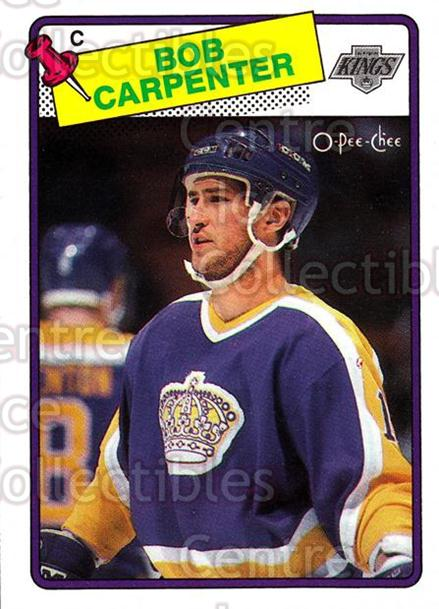 1988-89 O-Pee-Chee #72 Bob Carpenter<br/>8 In Stock - $1.00 each - <a href=https://centericecollectibles.foxycart.com/cart?name=1988-89%20O-Pee-Chee%20%2372%20Bob%20Carpenter...&quantity_max=8&price=$1.00&code=169360 class=foxycart> Buy it now! </a>