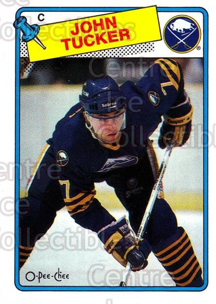 1988-89 O-Pee-Chee #74 John Tucker<br/>11 In Stock - $1.00 each - <a href=https://centericecollectibles.foxycart.com/cart?name=1988-89%20O-Pee-Chee%20%2374%20John%20Tucker...&quantity_max=11&price=$1.00&code=169362 class=foxycart> Buy it now! </a>