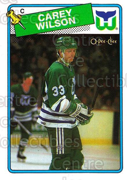 1988-89 O-Pee-Chee #75 Carey Wilson<br/>11 In Stock - $1.00 each - <a href=https://centericecollectibles.foxycart.com/cart?name=1988-89%20O-Pee-Chee%20%2375%20Carey%20Wilson...&quantity_max=11&price=$1.00&code=169363 class=foxycart> Buy it now! </a>