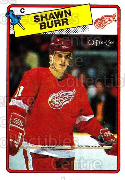 1988-89 O-Pee-Chee #78 Shawn Burr<br/>11 In Stock - $1.00 each - <a href=https://centericecollectibles.foxycart.com/cart?name=1988-89%20O-Pee-Chee%20%2378%20Shawn%20Burr...&quantity_max=11&price=$1.00&code=169366 class=foxycart> Buy it now! </a>