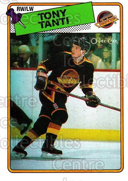 1988-89 O-Pee-Chee #82 Tony Tanti<br/>11 In Stock - $1.00 each - <a href=https://centericecollectibles.foxycart.com/cart?name=1988-89%20O-Pee-Chee%20%2382%20Tony%20Tanti...&quantity_max=11&price=$1.00&code=169371 class=foxycart> Buy it now! </a>